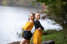 Two Beautiful Girl Teenagers F...