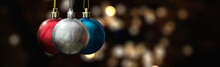 Christmas Spheres On Unfocused...