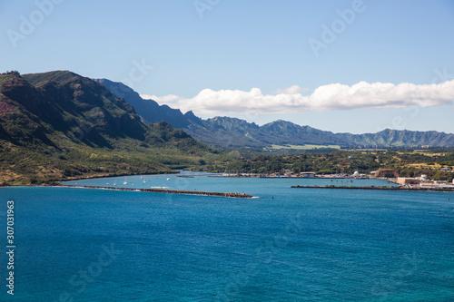 Fototapety, obrazy: Aerial view of the coast of the island Kauai, Hawaii.
