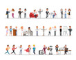 Set of business people working in office character vector design no5