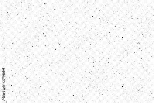 Obraz Old grunge black texture. Dark weathered overlay pattern sample on transparent background. Screen background. Vector. - fototapety do salonu