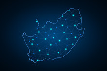Map Of South Africa. Wire Fram...