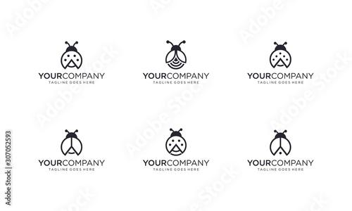 Cuadros en Lienzo Lady bug logo design vector