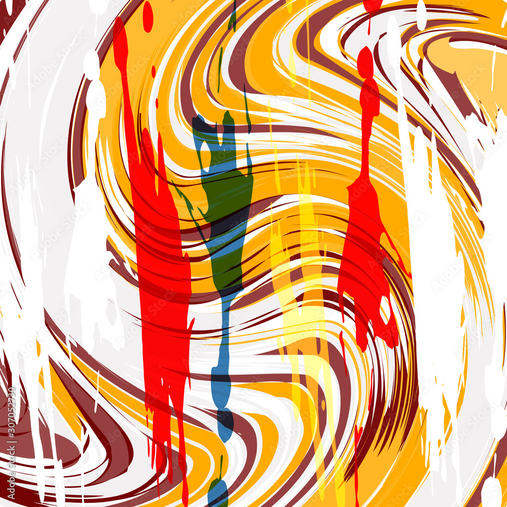 Abstract bright color pattern in graffiti style for your design.