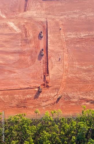 mining bauxite at Weipa, Cape York  Queensland  Australia Canvas Print