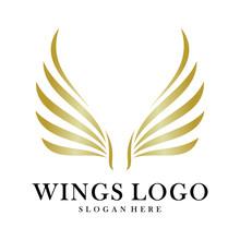 Luxury Wings Logo Design Vecto...
