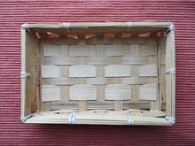 Empty Wicker Basket Or Box. Wo...