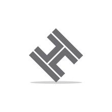 Letter Th Stripes Geometric Design Symbol Vector