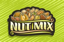 Vector Logo For Nut Mix, Black...