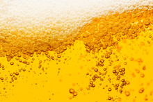 Beer Background With Bubble Fr...