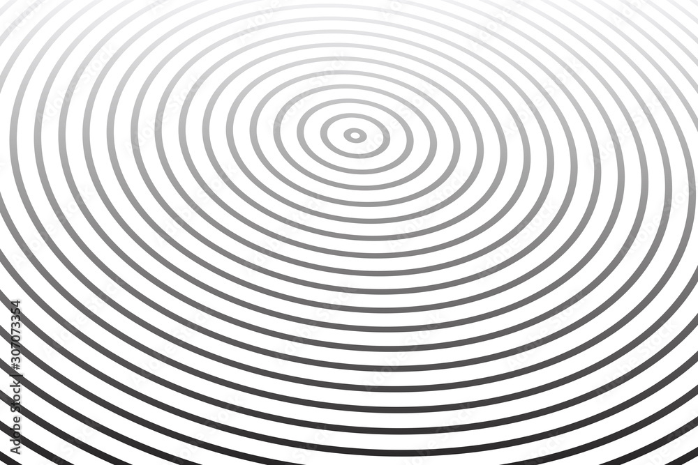 Concentric rings pattern. Oval striped lines texture.