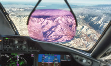 Flying Over The Andes Mountains