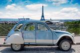 Fototapeta Fototapety Paryż - Paris historic car cityscape