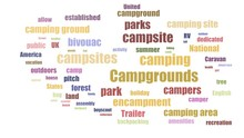 Campgrounds Tag Cloud Animated...