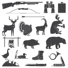 Set Of Hunting Equipment And A...