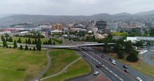 Hobart CBD From Above With Drone