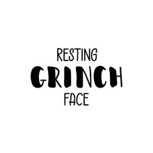 Resting Grinches Face. Vector ...