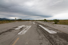 Runway Abandoned Military Airfield Zeljava In Croatia