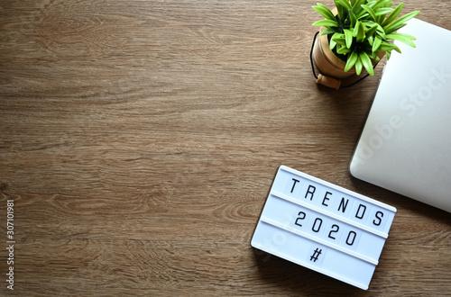 Fotografía TRENDS 2020 Business Concept,Top view