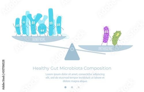 Microbial balance in the intestinal microbiota Wallpaper Mural