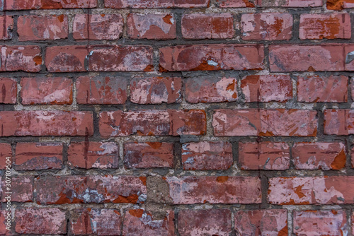 Old Red Brick Wall for Backgrounds