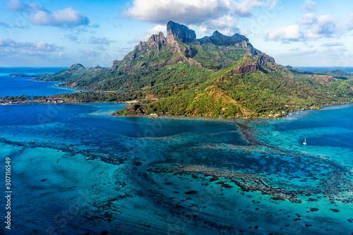 Fotografia Bora Bora French Polynesia Paradise Island aerial view panorama