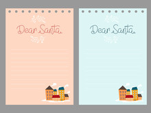 Layout Of A Letter To Santa Cl...