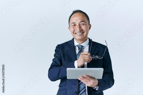 Obraz na plátne シニアのビジネスマン