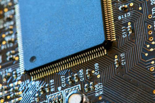 Fotografie, Tablou  Motherboard digital chip