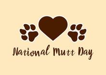 National Mutt Day Vector. Dog ...
