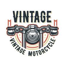 Vintage Motorcycle Logo Templa...