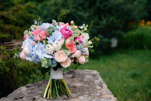 Close Up Of Bridal Bouquet Of ...