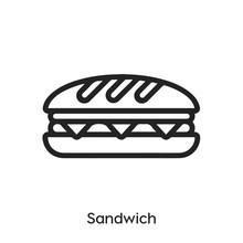 Sandwich Icon Vector. Sub Icon Vector Symbol Illustration. Modern Simple Vector Icon For Your Design. Sandwich Icon Vector