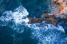 Wave Crashing On Rocks At La J...