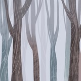 Сolorful raster illustration with stylish forest. Hand drawn nature background for your design.Textile, blog decoration, banner, poster, wrapping paper. - 307135790