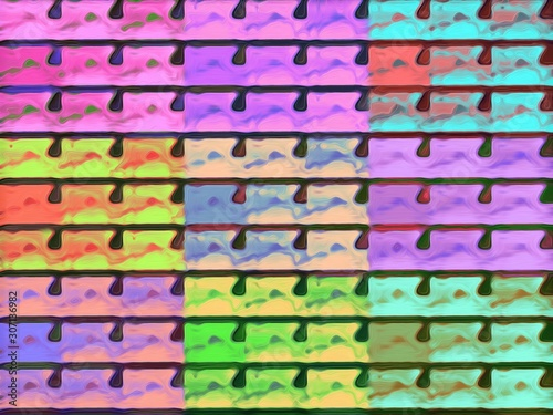 colorful background in warhol style Fototapeta