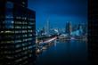Singapore Urban Skyline and Buildings at Dusk