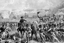 Battle Of Fleurus, 1794. French Revolutionary Wars. Antique Illustration, 1890.
