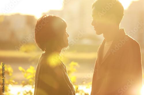Obraz na plátne 笑顔のカップル