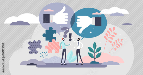 Constructive criticism vector illustration Wallpaper Mural