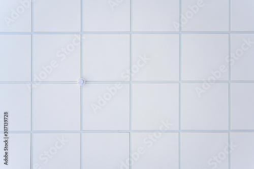 Photographie Squared background concept in white