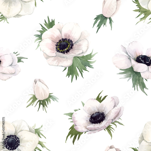 beautiful-vector-watercolor-floral-seamless-pattern-with-anemone-flowers-stock-illustration