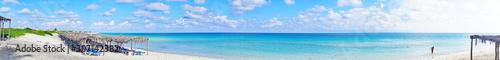 Panorámica de playas y complejos para turistas en Cayo Santa María, República de Cuba