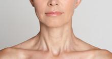 Skin Care. Half Face Portrait ...