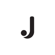 J Lette Initial Icon Logo Design Vector Template