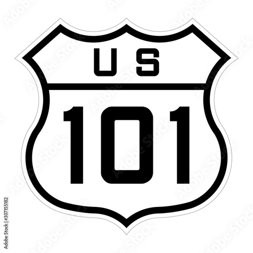 US route 101 sign Canvas Print