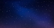 Night Starry Sky, Blue Shining...