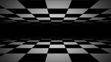 Abstract Checkerboard Landscape Seamless Looping/ 4k Animation Of An Abstract Black And White Tiles 3d Landscape Background With Checkerboard Seamless Looping