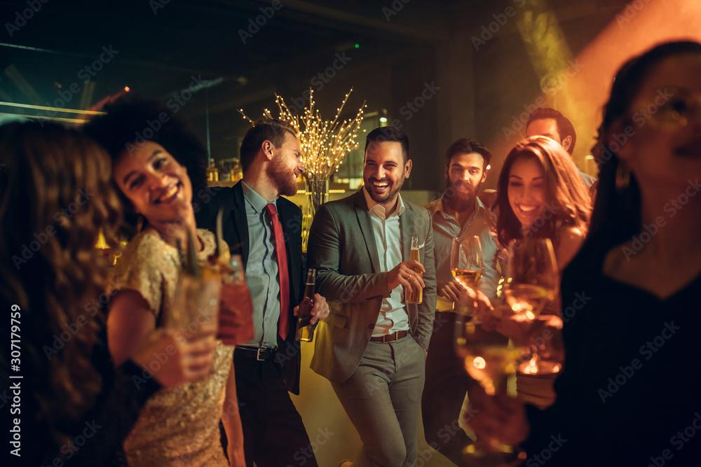 Fototapeta Partying the night away