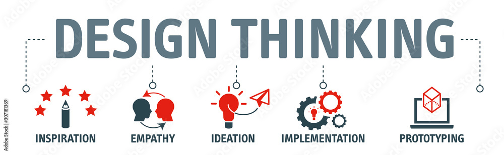 Fototapeta design thinking process illustration vector concept